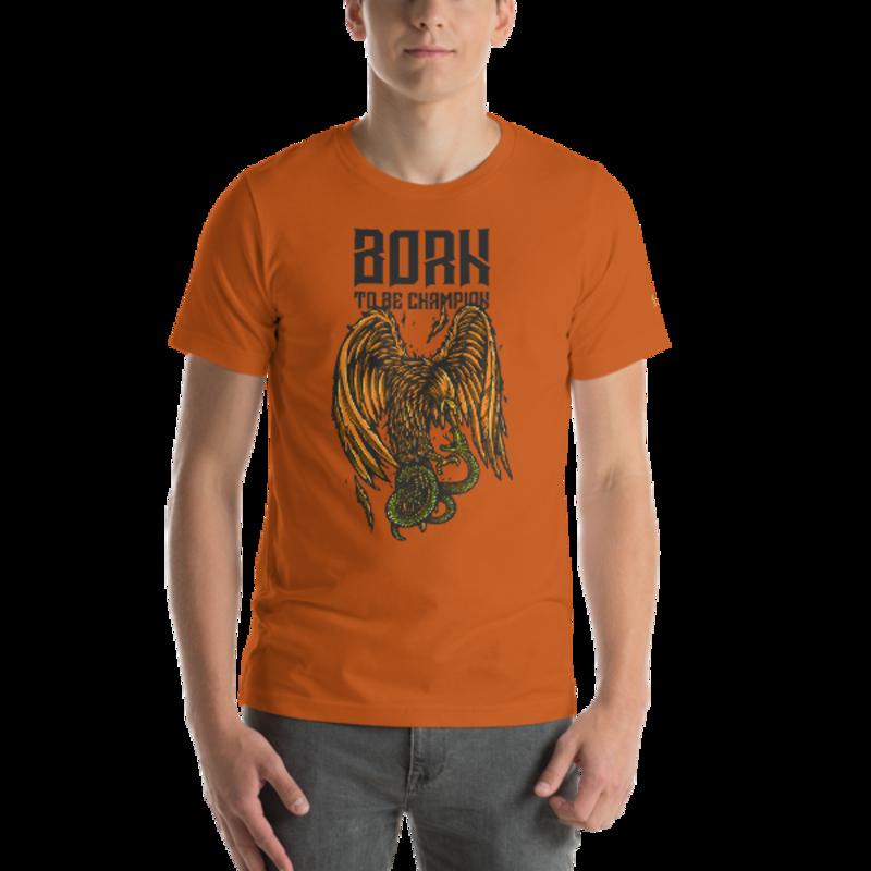 Born a Champion Unisex T-Shirt mockup
