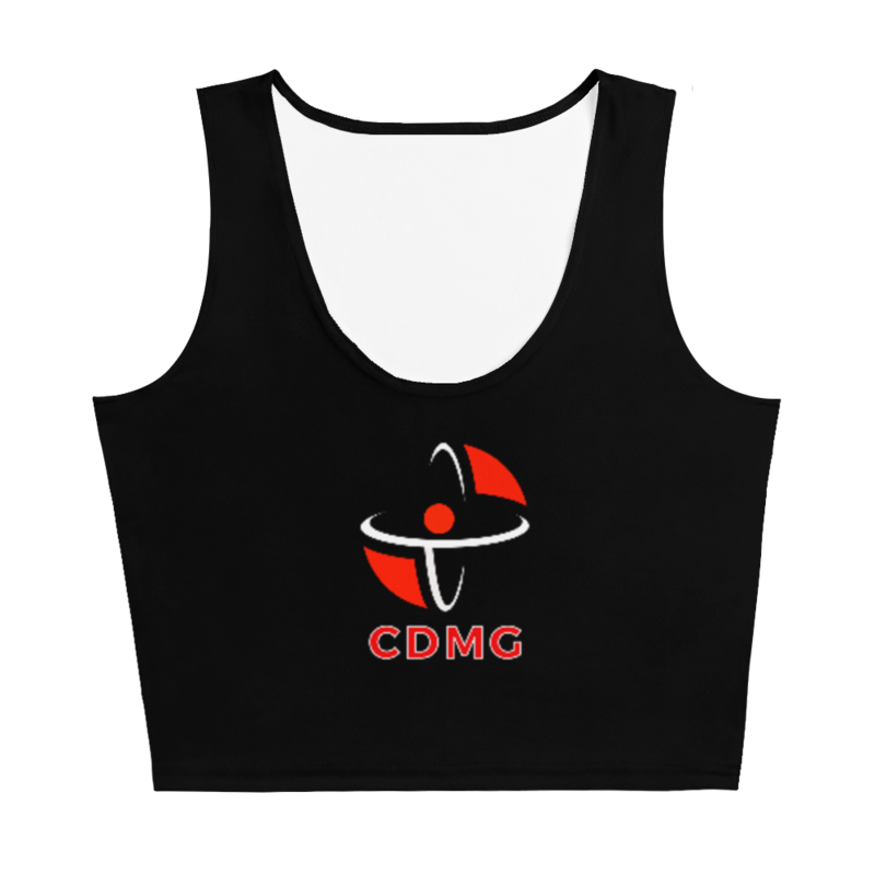 CDMG Custom Crop Top Black