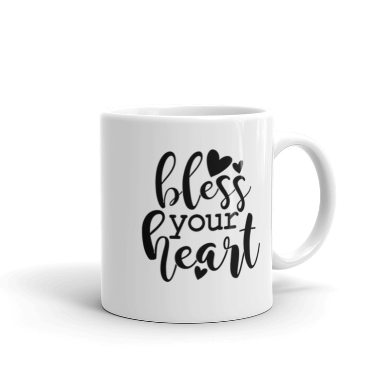 White Coffee Mug Bless Your Heart