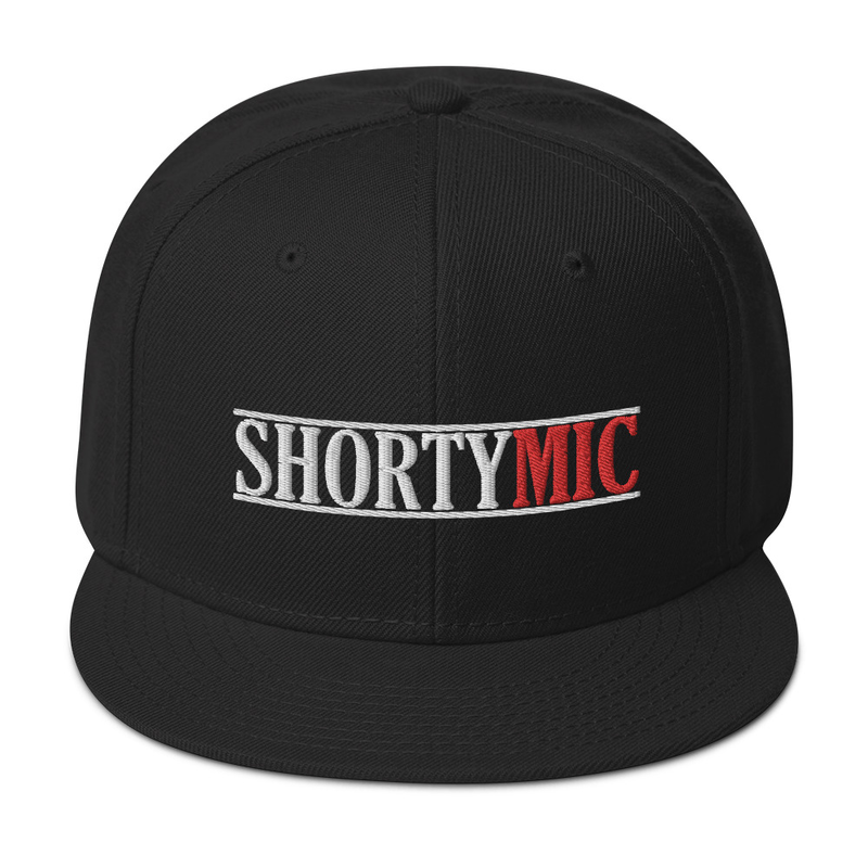 Shorty Mic, Black, Snapback Hat