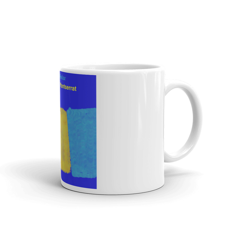 White glossy mug - Our Man From Montserrat