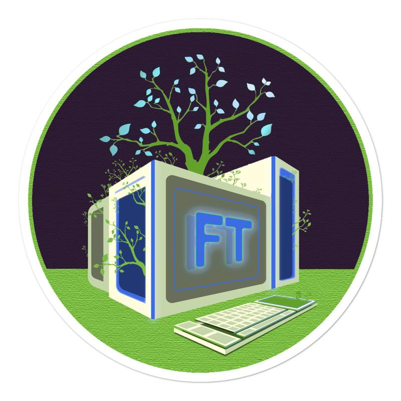 Treeputer Night sticker