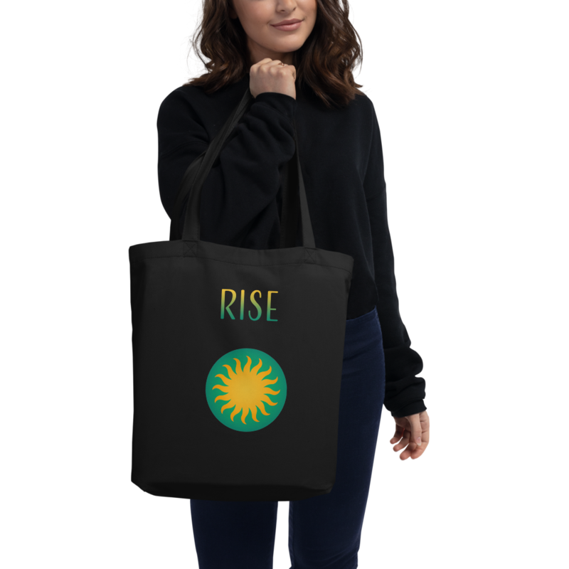 "Sun Logo + ""Rise"" Text - Eco Tote Bag"
