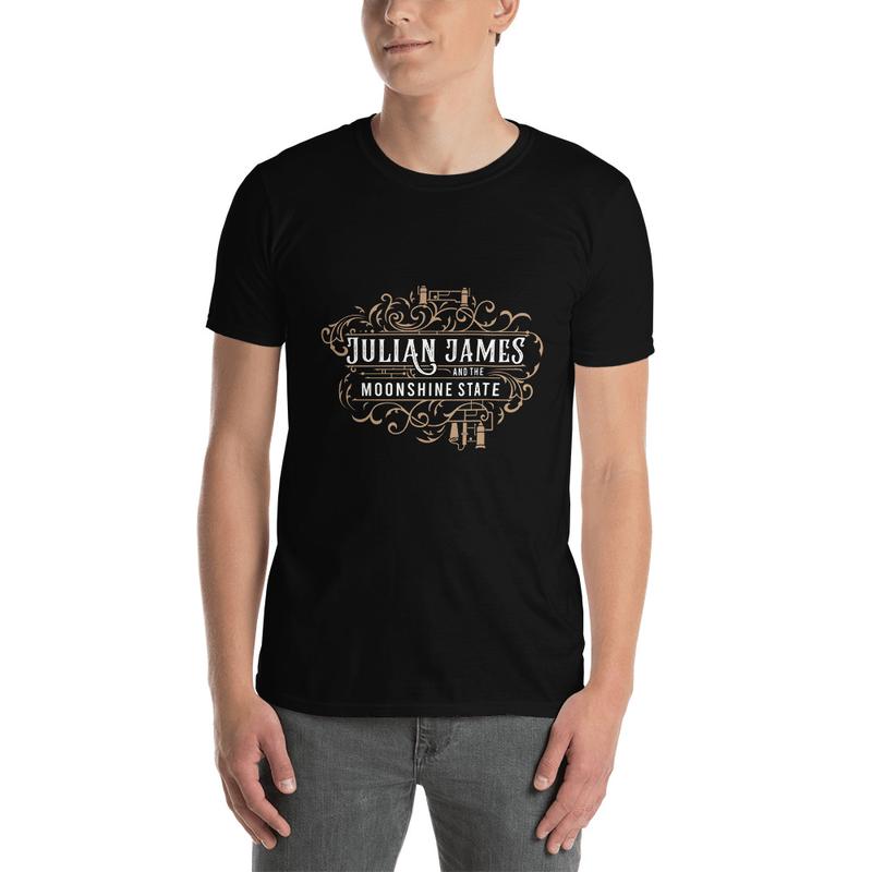 Black/Gold Moonshine state Tshirt