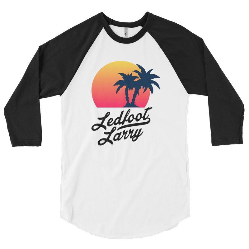 "Ledfoot Larry ""The Island"" | Raglan (WHT/BLK)"