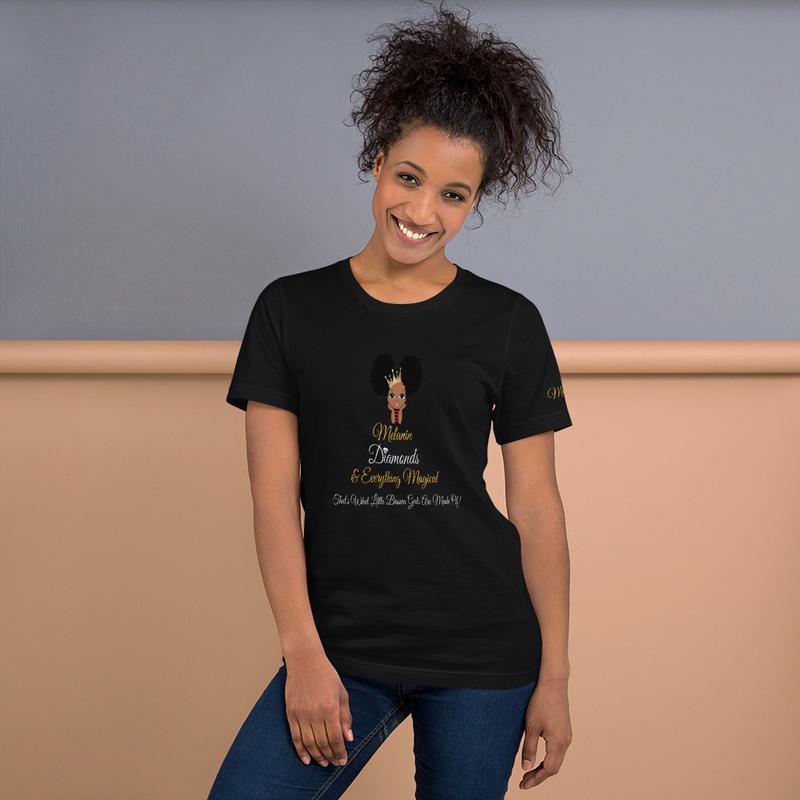 Princess Melanin Affirmation Short-Sleeve Unisex T-Shirt
