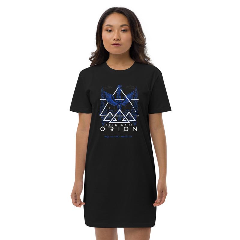 Wage Peace Blue Organic Sacrofice cotton t-shirt dress