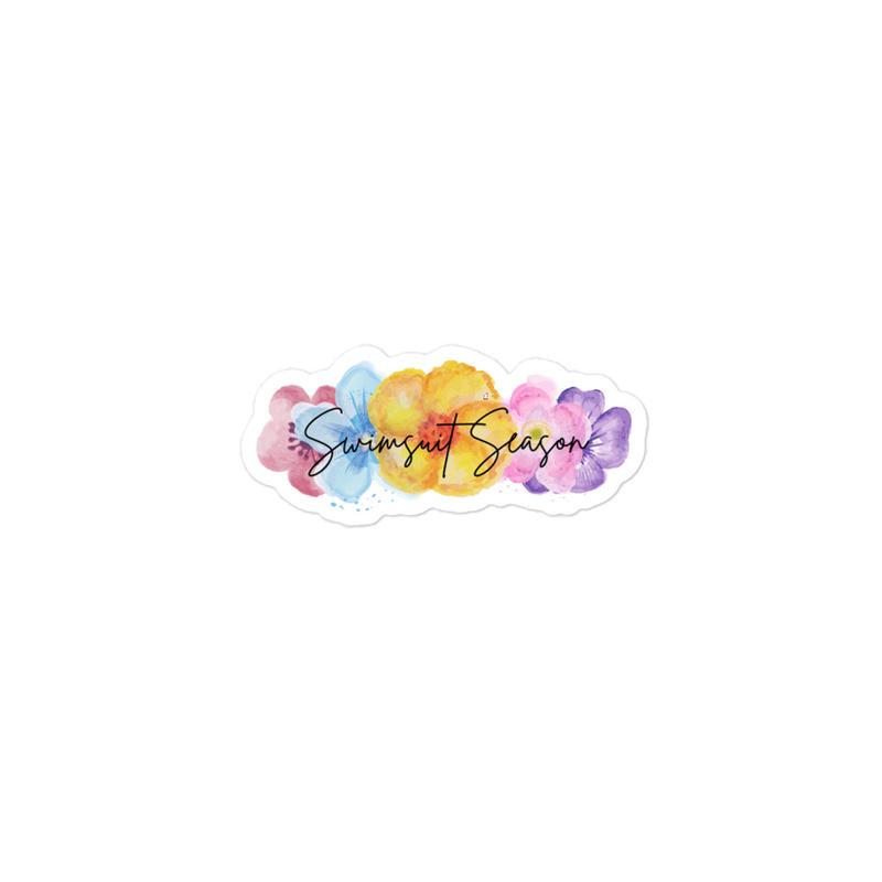 Floral Swimsuit Season Sticker