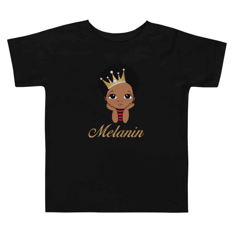 Prince Melanin Toddler Short Sleeve Tee
