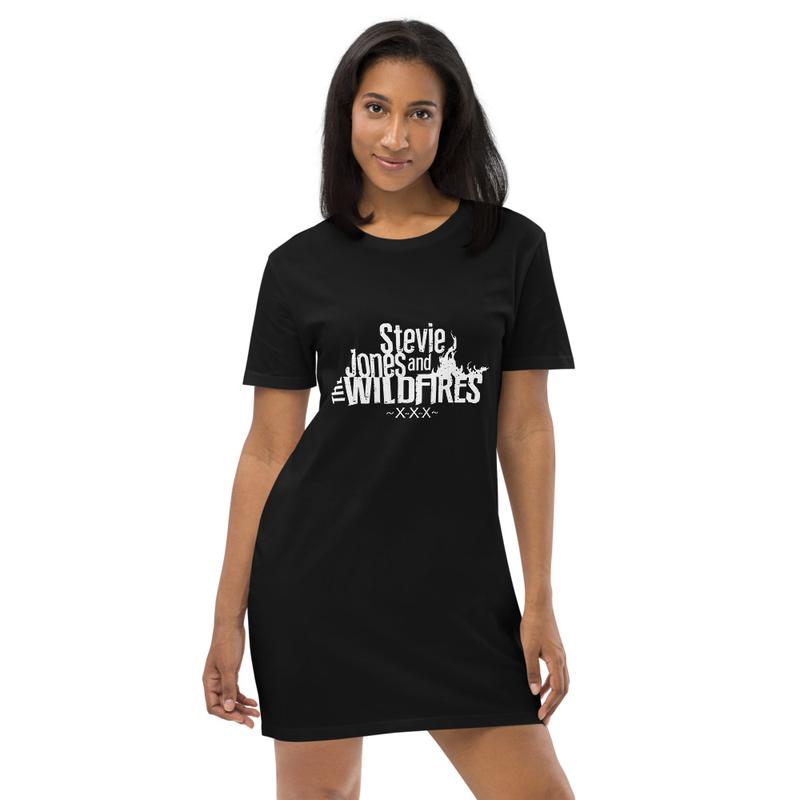 Organic Cotton White Logo T-shirt dress