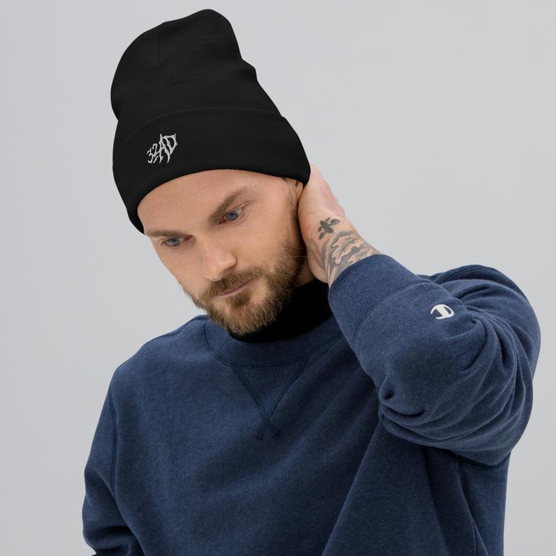 32AD - Knit Beanie (Black)