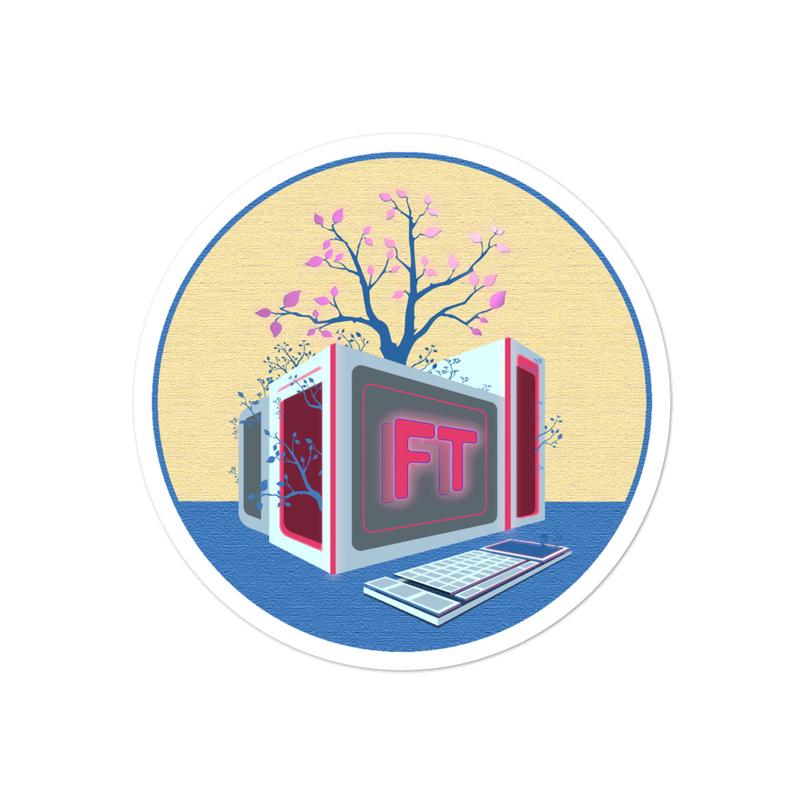 Treeputer Rose sticker
