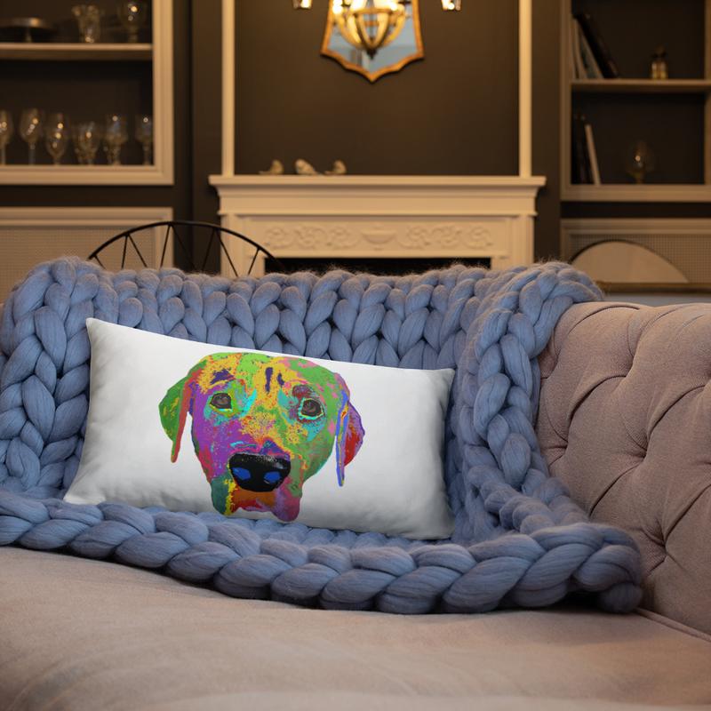 Dog head Basic Pillow