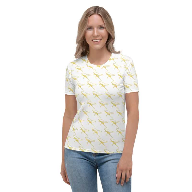 Women's T-shirt - Crystal Mia Signature - White/Gold
