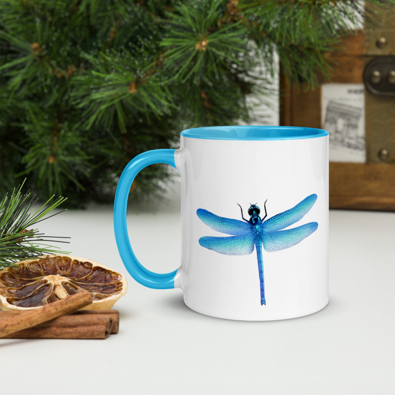 Blue DragonFly - Mug with Color Inside
