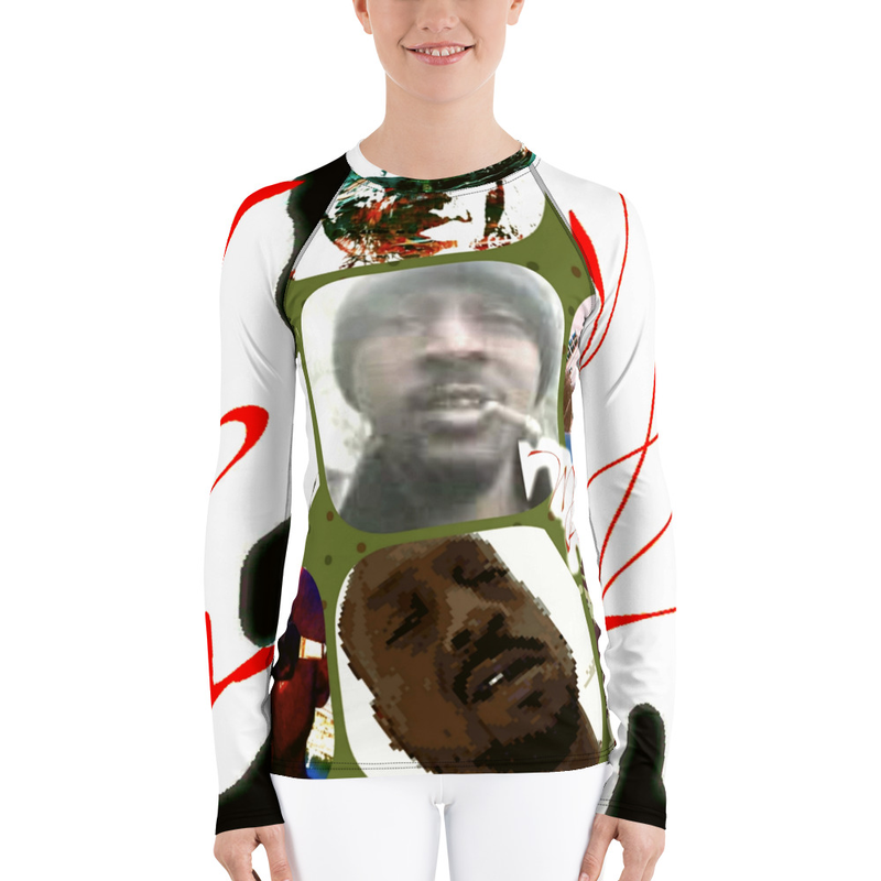 Women's Rash Guard - Mista faces