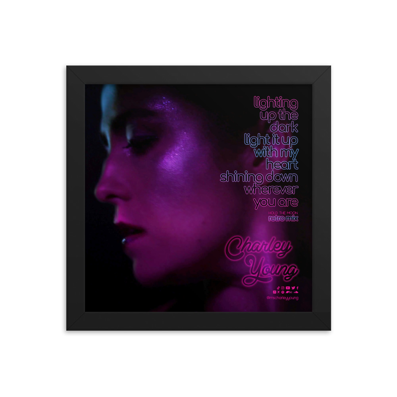 Hold the Moon (Retro Mix) Framed Poster