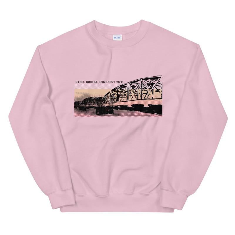 Steel Bridge Stripe Blue or Pink Retro Dad Sweatshirt