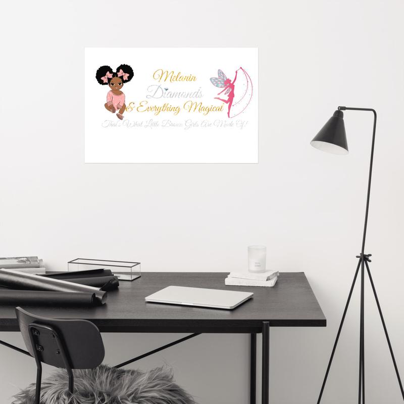 Princess Melanin Affirmation PINK Poster