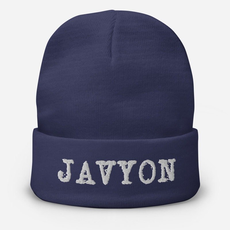 Javyon Embroidered Beanie
