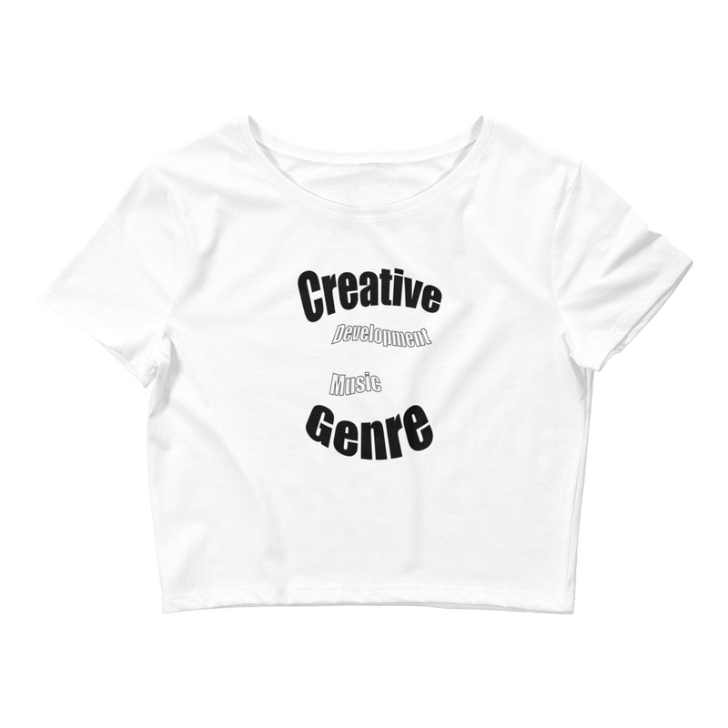 CDMG Women's Crop Tee-Creative Development Muzik Genre