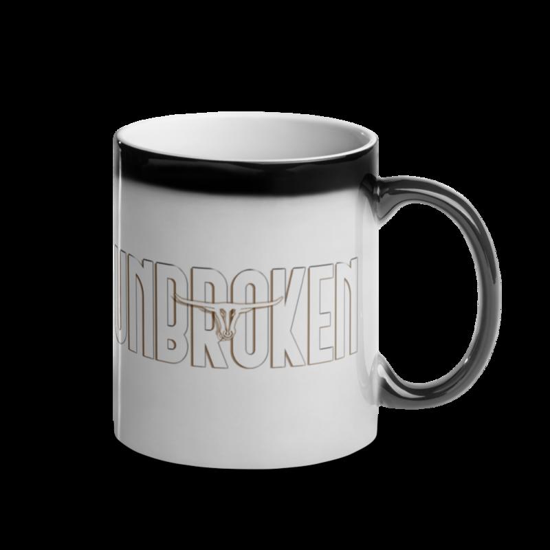 "JMB ""Unbroken"" Coffee Mug - Right Side Handle"