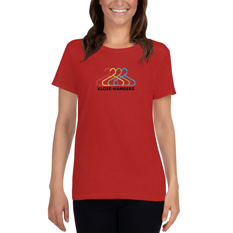 Women's short sleeve t-shirt - Kloze-Hangerz (CGK logo on upper back)