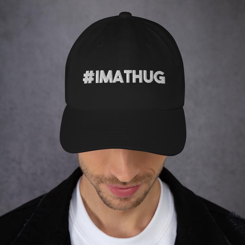 #IMATHUG Baseball Style Hat (GRE Logo on Left Side)