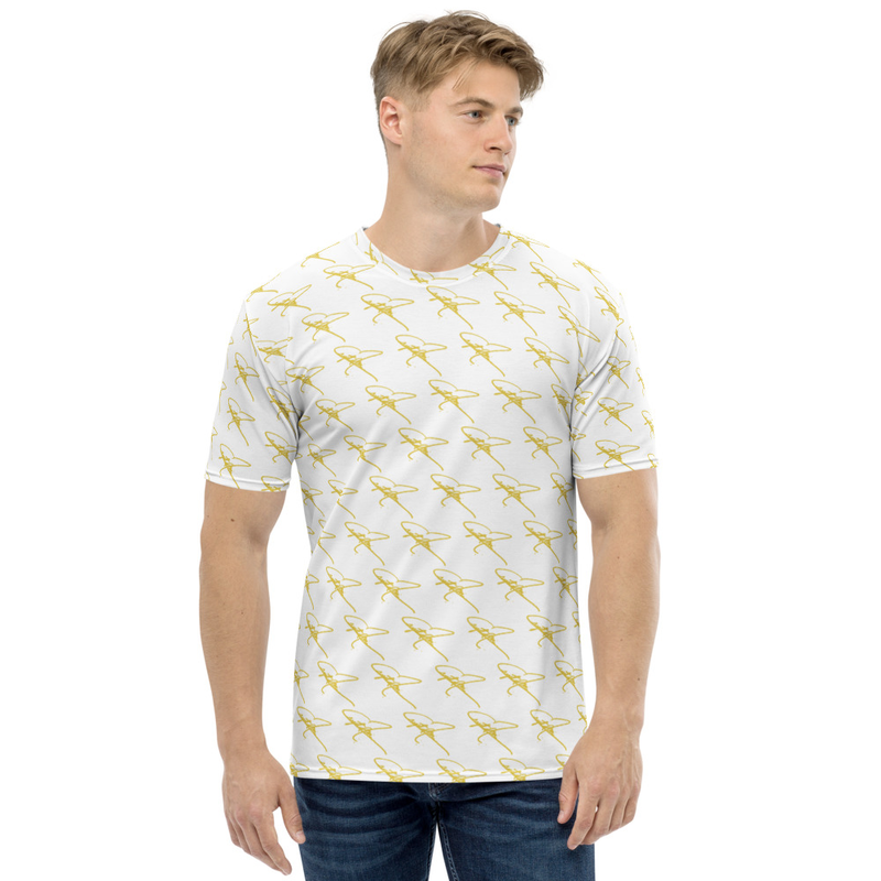 Men's T-shirt - Crystal Mia Signature - White/Gold