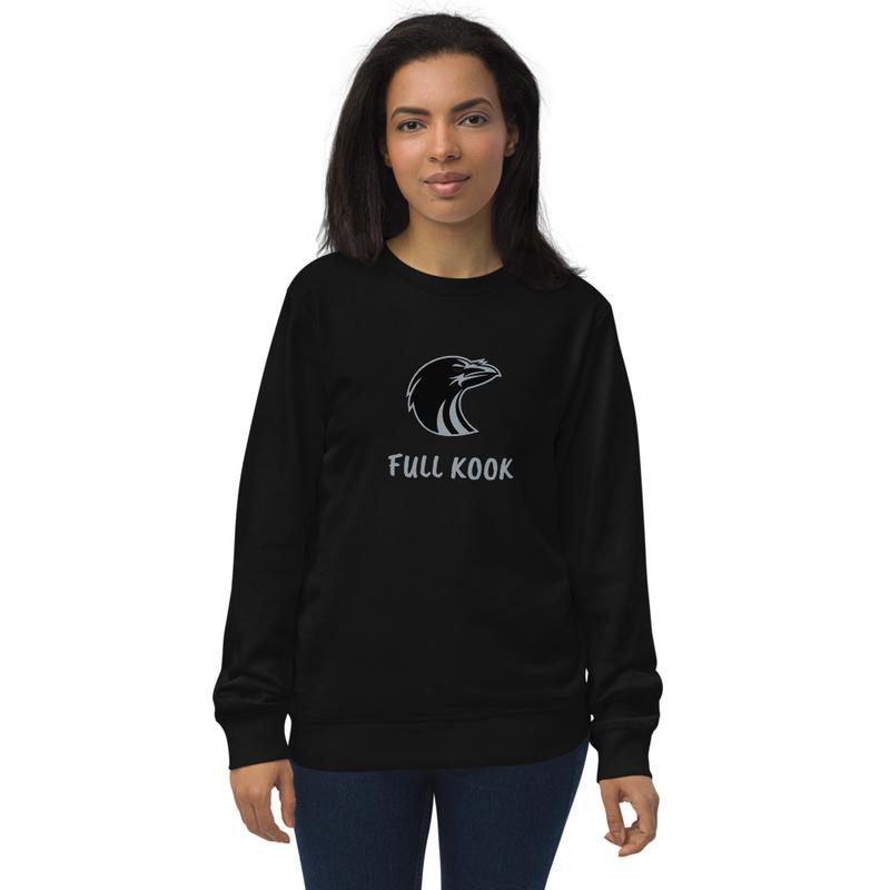 Raven Full Kook Unisex organic sweatshirt