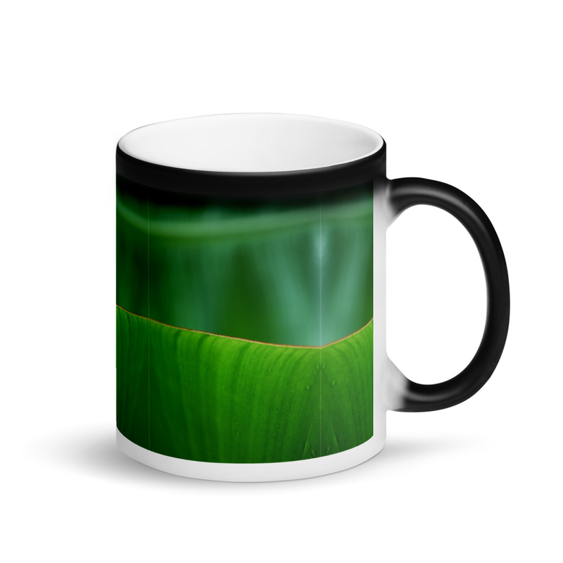 Banana Leaf Matte Black Magic Mug