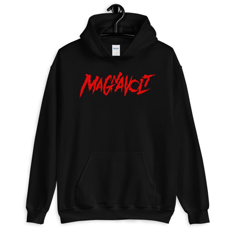 Magnavolt Black Hoodie with Red Logo