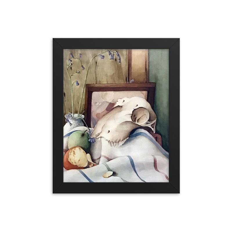 Still Life Final - Skull Framed poster