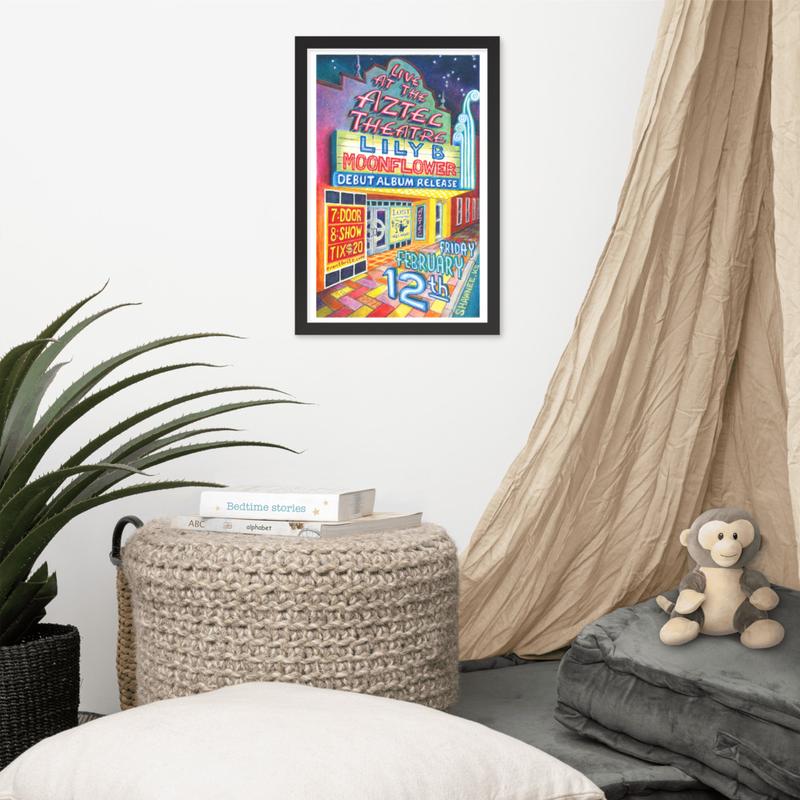 Framed Album Release Poster