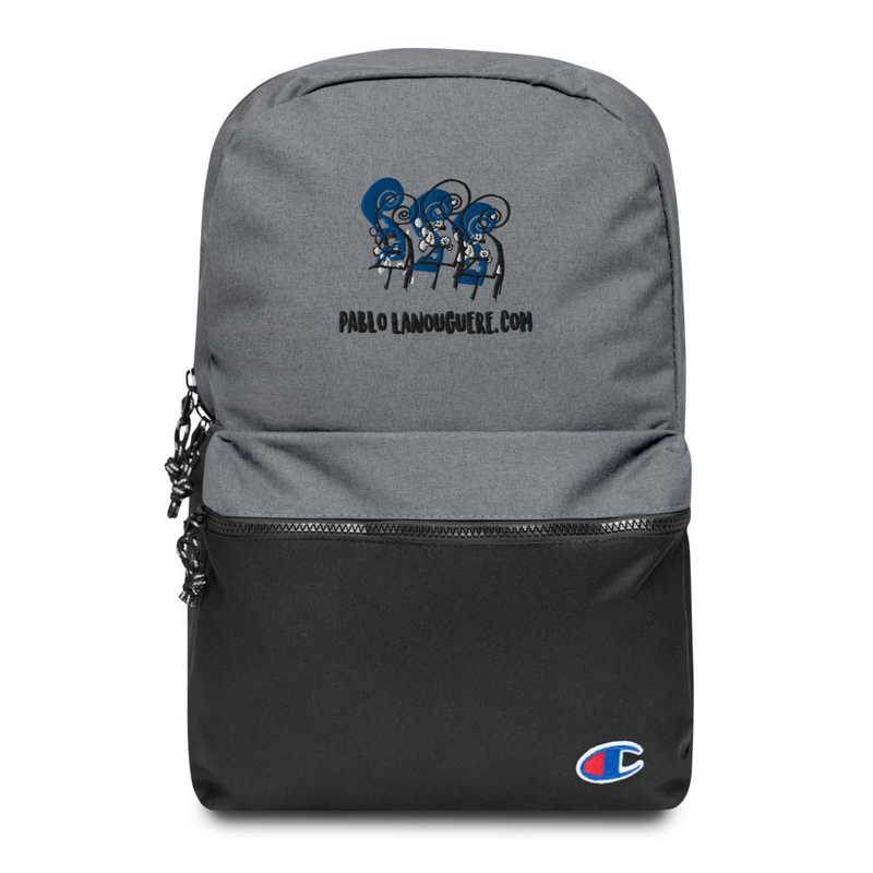 "Embroidered Champion Backpack ""Double Basses"""