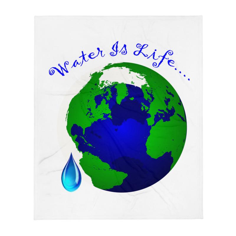 Water Is Life - Throw Blanket