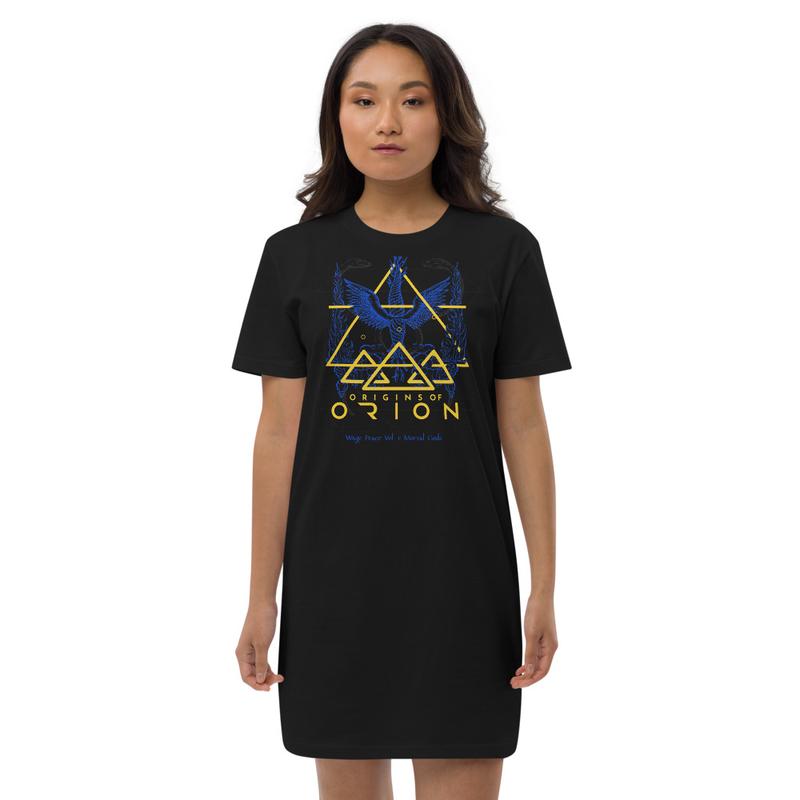 Wage Peace Blue Organic Sacrifice cotton t-shirt dress