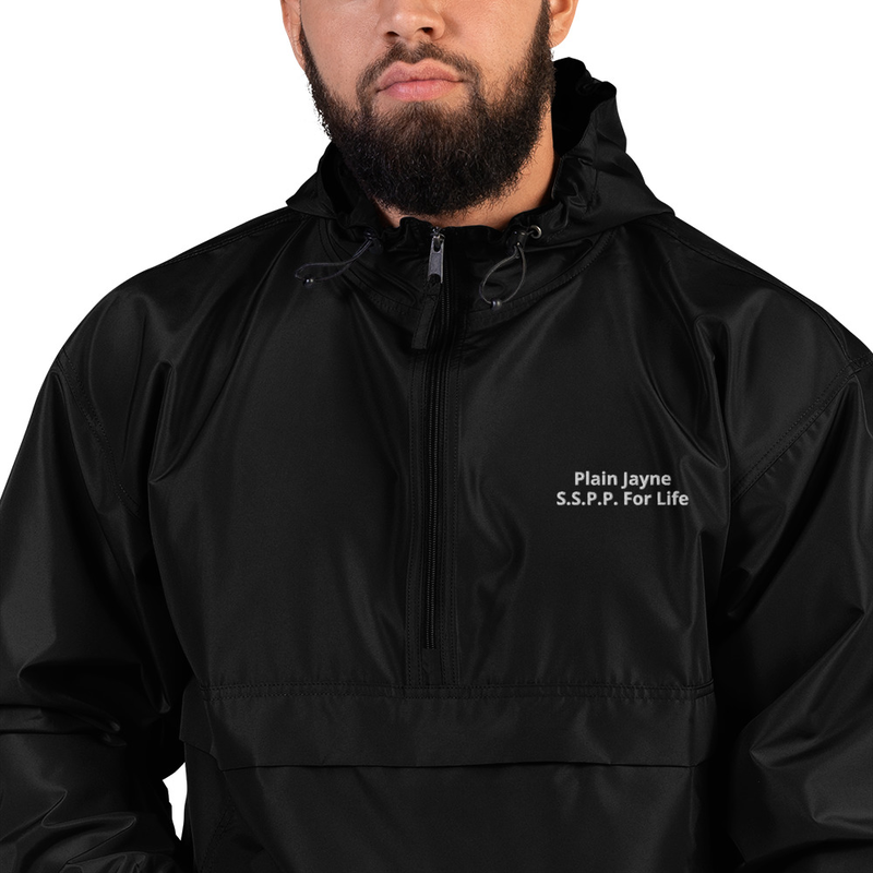 Plain Jayne Embroidered Champion Packable Jacket