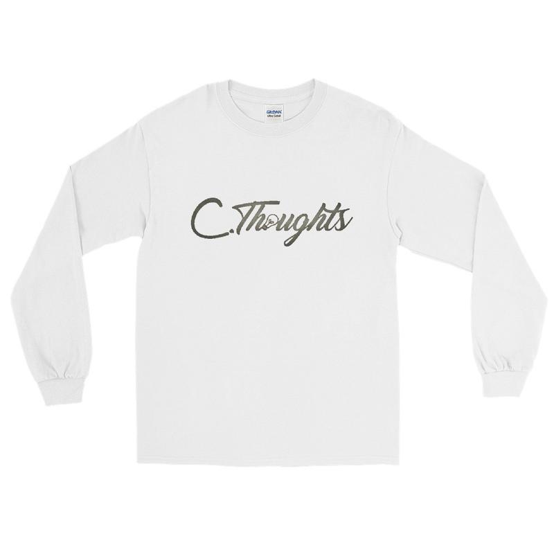 C.Thoughts Logo White Long Sleeve T-Shirt