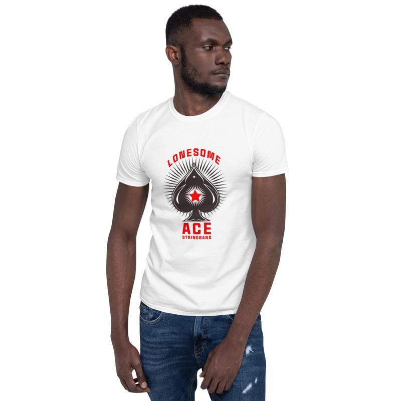 Short-Sleeve Unisex T-Shirt Ace Logo (black)