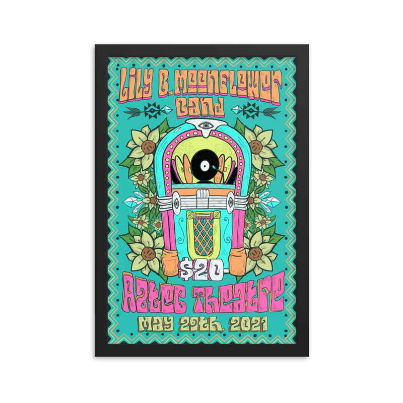 Framed Jukebox Poster - May 29th 2021 - Aztec Theater