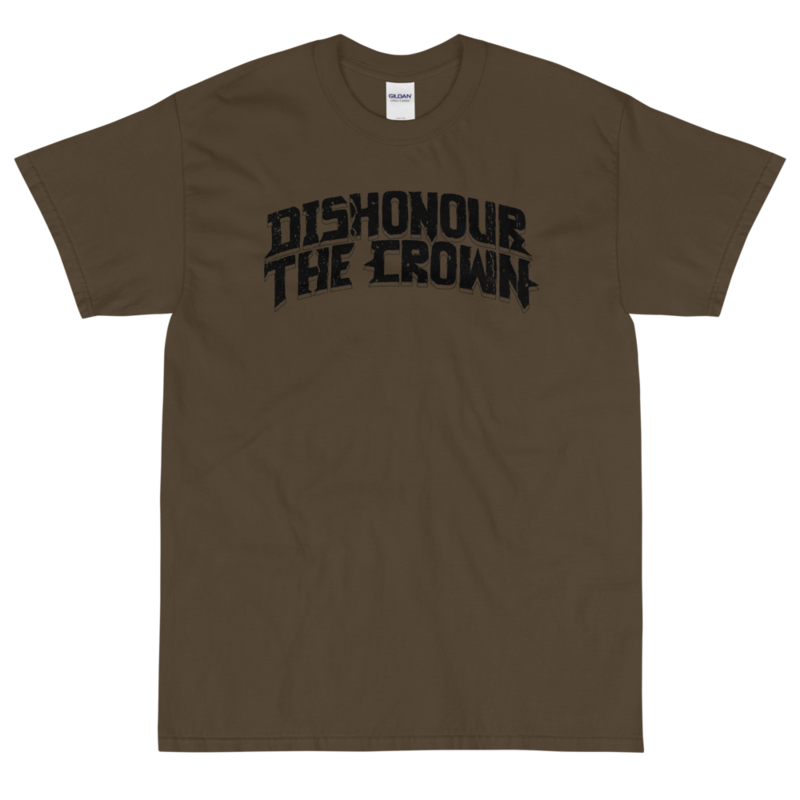 Dishonour The Crown logo T - Olive