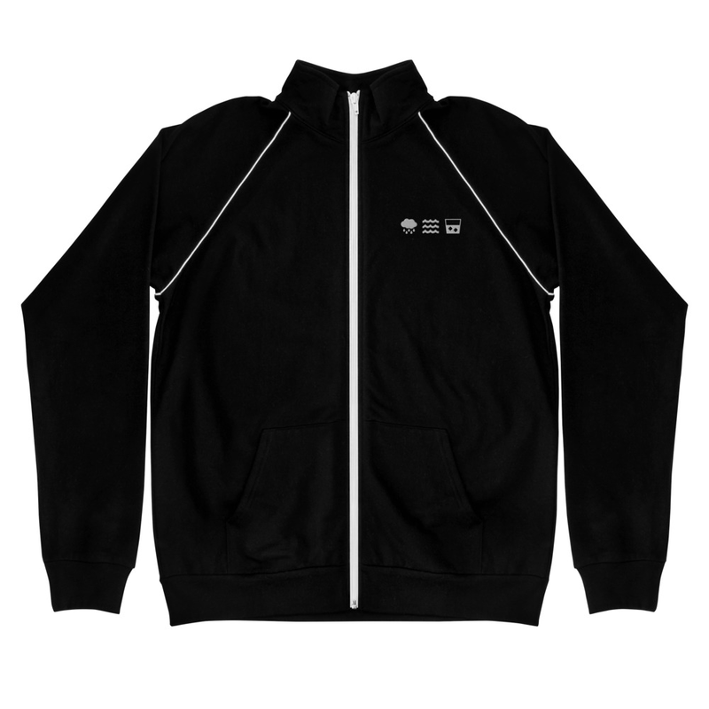 RWW Icons Piped Fleece Jacket - Embroidered RWW Icons (Front)