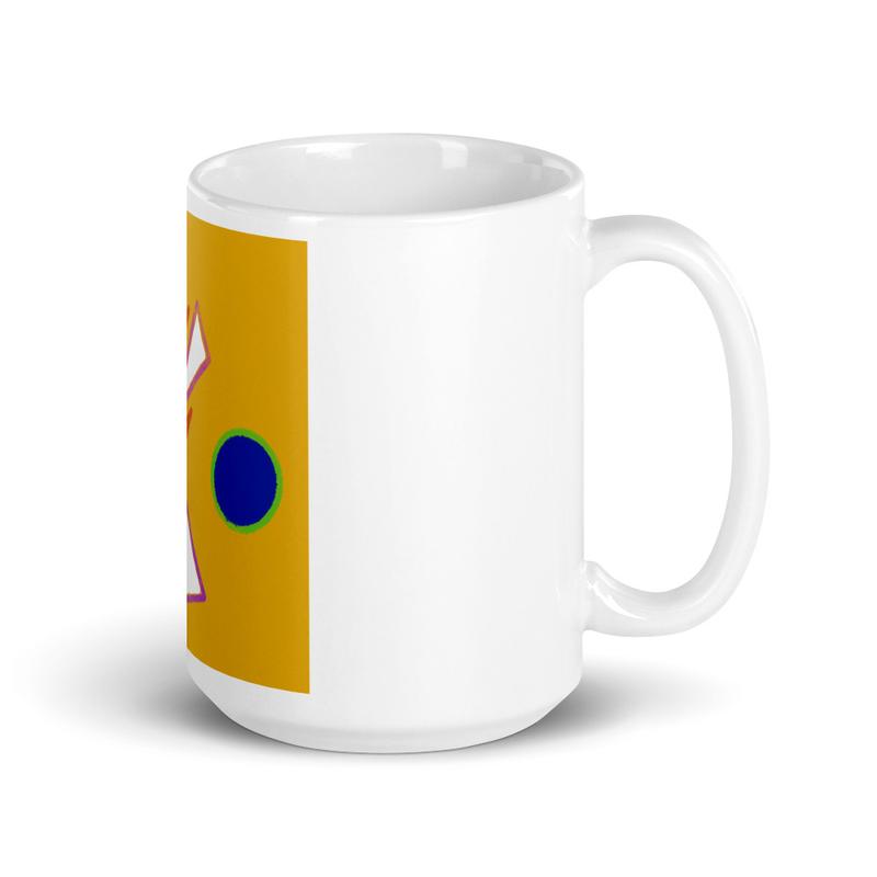White glossy mug - Mystic Mike