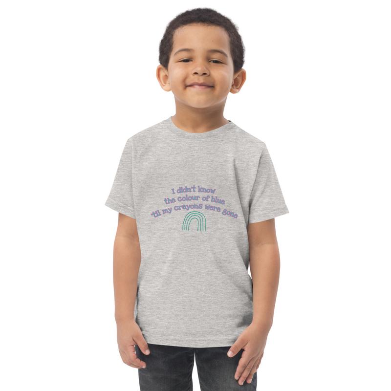 Toddler Crayon Blues t-shirt