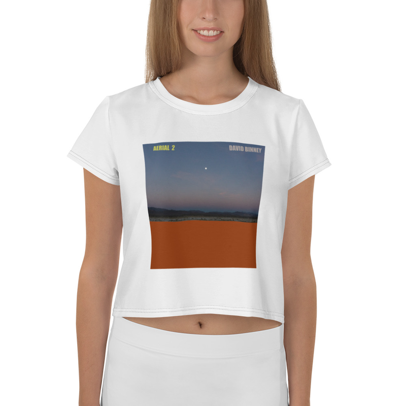 Aerial 2 All-Over Print Crop Tee