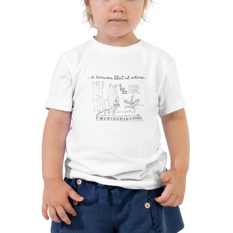 "Toddler Short Sleeve ""Corner That I Adore"" Tee"