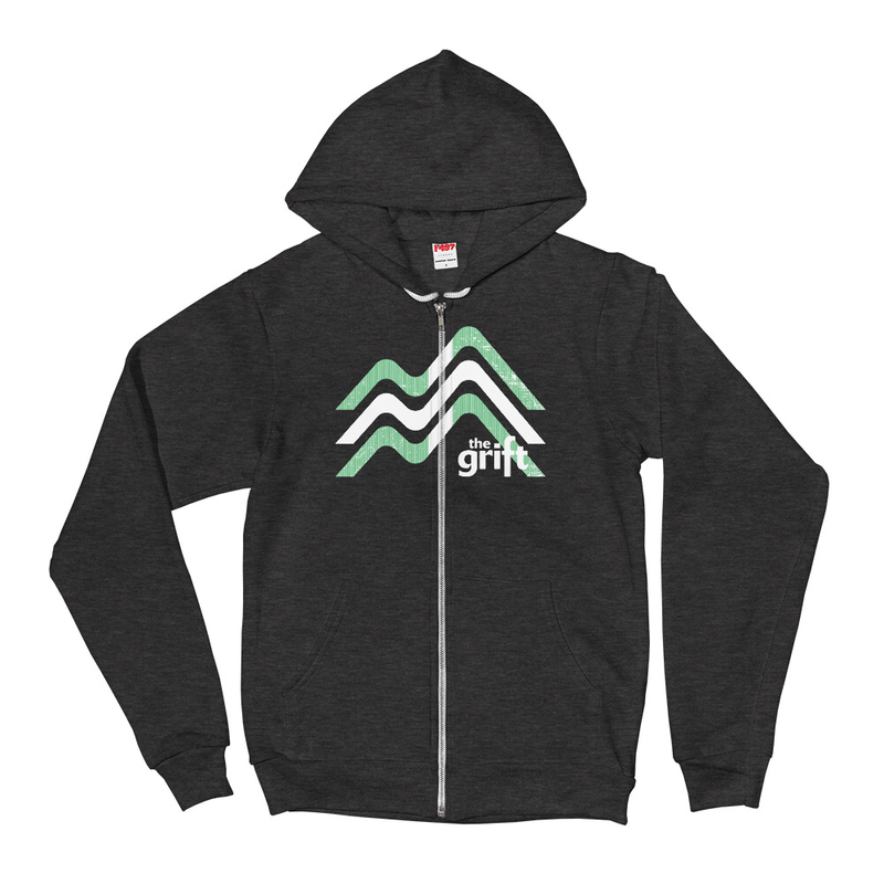 Unisex Zip Hoodie - Mountain Logo