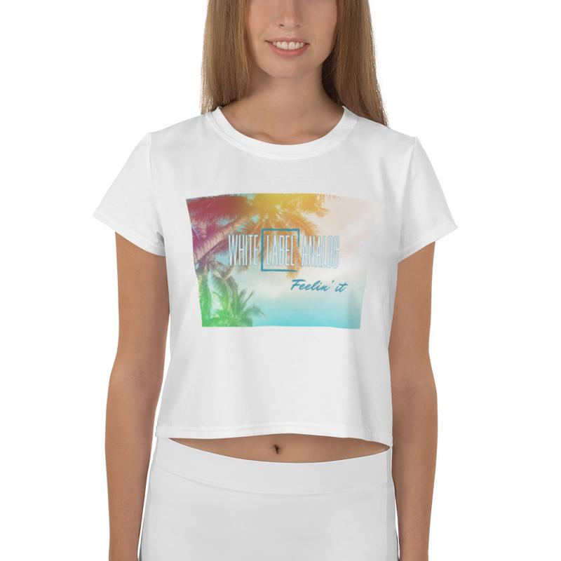 Women's WLA Summer Vibes Feelin' it Crop Top (White)