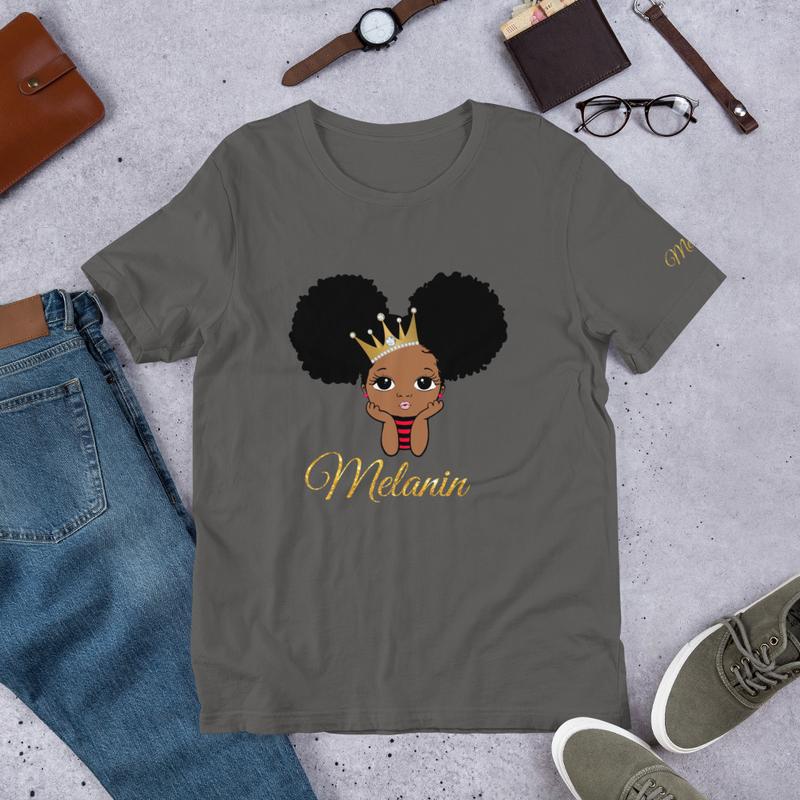 Princess Melanin Short-Sleeve Unisex T-Shirt